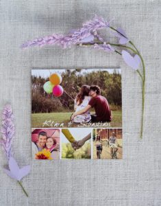 kolaż zdjęć - zaproszenie ślubne