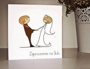 zaproszenie ślubne z ludzikami - lolkami
