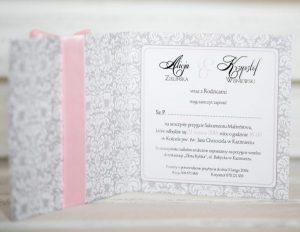 wnętrze zaproszenia rustykalnego na ślub